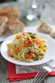 Summer Veggie Pasta Primavera {with Homemade Pasta}