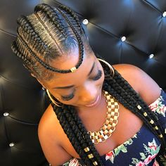 braids with beads kids braids with beads for women braids with beads for girls African American Braided Hairstyles, Braided Hairstyles For Black Women, African Hairstyles, Black Women Braids, Black Braids, My Hairstyle, Box Braids Hairstyles, Hairstyles 2018, Ladies Hairstyles