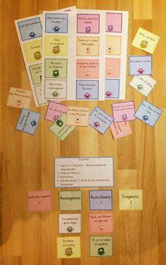 grundschul_teacher - Material, Montessori & Tipps: 19. Türchen: Satzarten - Monster: Satzarten bestim...