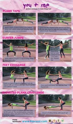 Full Workout Routine Healthliferoutines is part of Partner workout - Fitness Workouts, Buddy Workouts, At Home Workouts, Group Workouts, Couples Workout Routine, Couple Workout, Workout Ideas, Paar Workout, Friends Workout