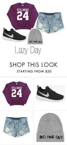 """Lazy Day"" by caitiebrid on Polyvore featuring NIKE and Local Heroes"