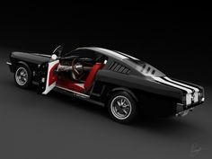 1965 mustang fastback flat black - Google Search