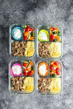 Low carb Greek turkey meal prep is a filling lunch that is full of Greek flavors and low in carbs! With Greek seasoned ground turkey, lemon cauliflower rice, Greek salad and Greek yogurt tzatziki. Low carb, gluten-free, and easily made paleo-compliant. Low Carb Meal Plan, Low Carb Lunch, Keto Foods, Health Blog, Low Carb Recipes, Healthy Recipes, Budget Recipes, Meal Recipes, Low Fat Low Carb