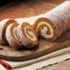 Pumpkin Cake Roll www.inthekitchenwithkevin.com
