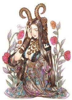 Maggi's Artwork Part 1 Art Kawaii, Kawaii Anime, Dark Fantasy Art, Fantasy Girl, Manga Characters, Fantasy Characters, Pretty Art, Cute Art, Japanese Art Modern