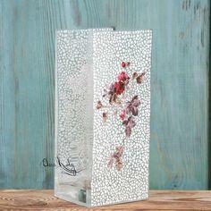 Купить Ваза Плетистая роза, ваза для цветов и интерьера - ваза для цветов, ваза, ваза стеклянная