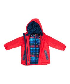 This Red & Blue 3-in-1 System Jacket - Toddler & Boys is perfect! #zulilyfinds