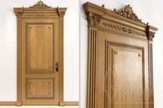 Дизайн-проект двери с резным декором.