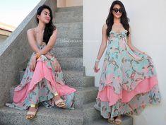 Long dress h&m green dress Long Dress Design, Stylish Dress Designs, Designs For Dresses, Indian Gowns Dresses, Indian Fashion Dresses, Indian Designer Outfits, Frock Fashion, Long Gown Dress, Kurta Designs Women