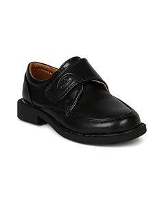 Kids Boys Black School Shoe Formal Wedding Loafers Buckle Strap Kid 11 12