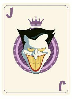 A project of Batman The Animated Series. Joker Card Tattoo, Batman Tattoo, Joker Animated, Batman The Animated Series, Joker Playing Card, Playing Cards, Joker Cartoon, Joker Photos, Dc Comics
