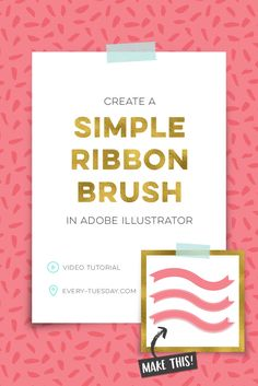 Create a Simple Ribbon Brush in Adobe Illustrator | video tutorial via @teelac