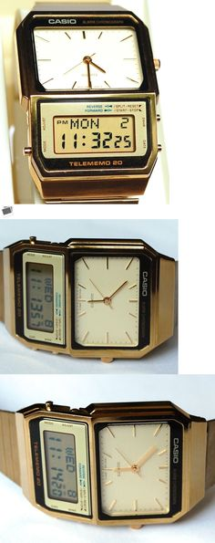 Watches for Parts 165144: Vintage Mens Casio New Old Stock Telememo 20 Ana Digi Digital Lcd Repair Ab 200G -> BUY IT NOW ONLY: $79 on eBay!