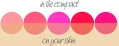 Choosing a blush can be tricky! Here's some tips to consider when making your choice!