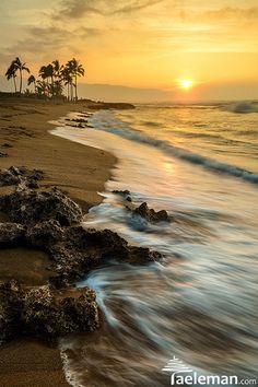Sunset at Haleiwa Beach Park