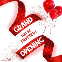 Please join us in celebrating our Grand Re-Opening of #FlemingoDutyFree in a brand new, expanded store. #BigBetterFlemingo
