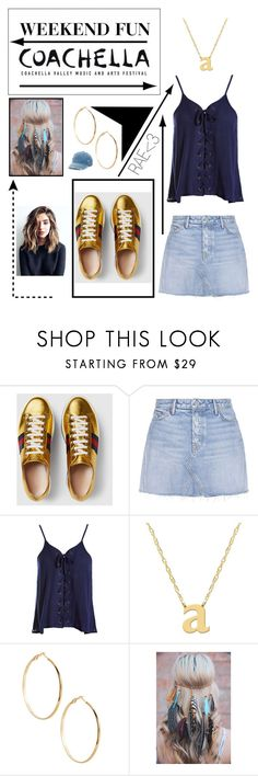 """""""Weekend Fun #casual #artsy #music #stylish"""" by rae-love-fashion-design ❤ liked on Polyvore featuring Gucci, GRLFRND, Sans Souci, Jane Basch, GUESS by Marciano and Mudd"""