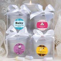 Personalized Expressions Collection Candle Favors Baby