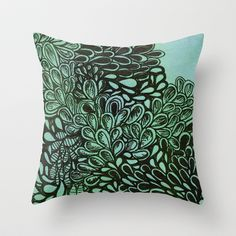 Blue Version Throw Pillow by K.NOW - $20.00