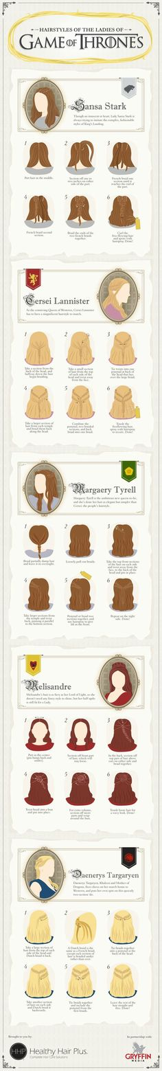 Thrones hairstyles for ladies...and select men >_>