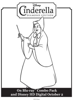 Sleeping Beauty Fairy Godmother Colouring Pages