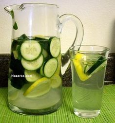 Sassy (Anti Bloating) Water Flat Belly Water Ingredients 8 C… – rdr - Detox Recipes Drinks For Bloating, Anti Bloating, Flat Belly Water, Flat Belly Diet, Water Recipes, Detox Recipes, Cucumber Infused Water, Guava Benefits, Ginger Slice