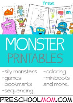 Free Preschool Printables at Preschool Mom ocean unit