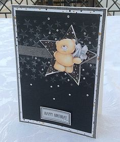 Classic Decadence card with star embossing folder