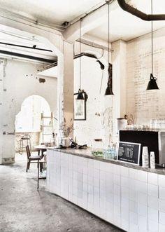 le style industriel se decline en blanc - soul inside - bar