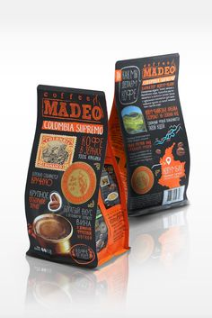 Unique Packaging Design, Madeo Coffee #Packaging #Design