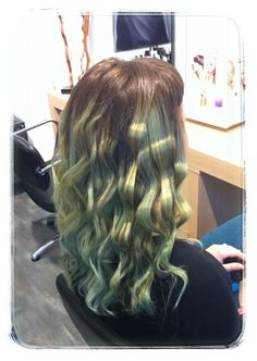 Pastel color..green hair