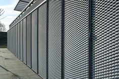 galvanized expanded metal facade, graffiti proof...