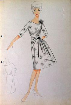 Croquis anni 60 con stilisti (9) Balmain