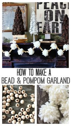 how to make a bead and pom pom garland from Thistlewood Farms