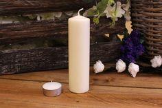 Κεριά Κυλινδρικά Εκρού Φ4x15εκ Pillar Candles, Taper Candles