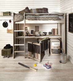 the boo and the boy: tween/teen boy loft bed