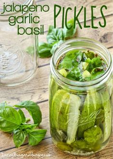 Sacred Really Like - 22 Solutions That Should Change The Tide In Your Daily Life Along With The Lives Of Any Individual Jalapeno Garlic Basil Pickles - Tangy, Zesty, And Crunchy Pickles, Easy To Make And Ready For Snacking The Very Next Day Spicy Pickles, Canning Pickles, Homemade Pickles, Pickles Recipe, Spicy Refrigerator Pickles, Garlic Dill Pickles, Cucumber Canning, Canning Recipes, Snack Recipes