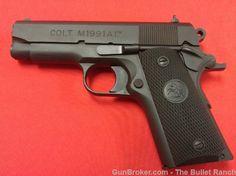 "Colt 1991A1 Compact 3.5"" Matte Blue w/box&papers : Semi Auto Pistols at GunBroker.com"