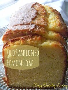 This simple lemon loaf is wonderful with your morning coffee or even as a dessert. This is a favorite with our family and friends. Everyone loves the fresh lemon favor that this bread has. Loaf Recipes, Lemon Recipes, Baking Recipes, Cake Recipes, Dessert Recipes, Lemon Desserts, Köstliche Desserts, Delicious Desserts, Yummy Food