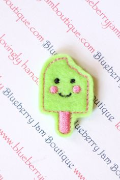 Embroidered Felt Kawaii Popsicle  Set of 4 by blueberryjamboutique, $3.15