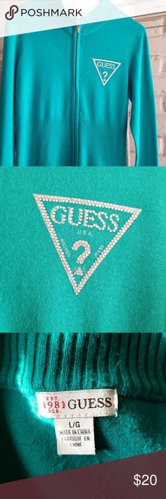 Super cute guess jacket Excellent condition, pretty bling detail Guess Jackets & Coats