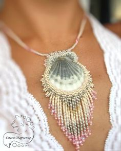 "Pendants-shells ""Memories of the Sea"" by Olesya Marchenko. Love this idea for a DIY seashell pendant"