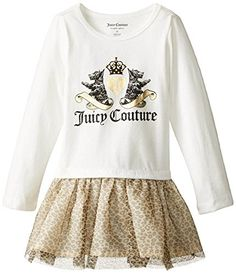 Juicy Couture BabyGirls Infant Cream Leopard Print Dress Multi 12 Months ** You can find out more details at the link of the image.