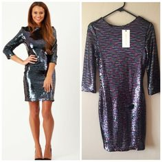 NWT $103 Lavish Alice Sequin Dress Available in a UK 8 which is equal to a US 4, in a UK 10 which equals a US 6, and in a UK 14 which equals a US 10 Lavish Alice Dresses