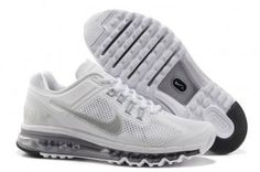 Nike Air Max 2013 Womens White Running Shoes [#N2437] - $71.72 : Authentic Nike Shoes For Sale, Buy Womens Nike Running Shoes 2014 Big Discount 62% Off