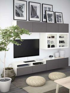 Most Polular Besta Living Room Ikea Home, Living Room Tv, Ikea Tv Stand, Small Living Rooms, Small Living Room Ideas With Tv, Ikea Living Room, Living Room Storage, Living Room Tv Wall, Home Decor