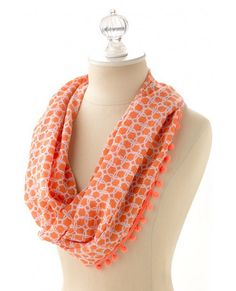 This printed scarf is also a SARONG! Talk about versatile!