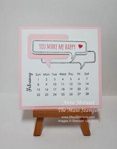 Maui Stamper DIY Easel Calendar February 2015
