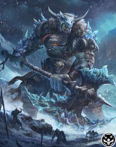 Jotun from Mobius Final Fantasy #illustration #artwork #gaming #videogames #gamer