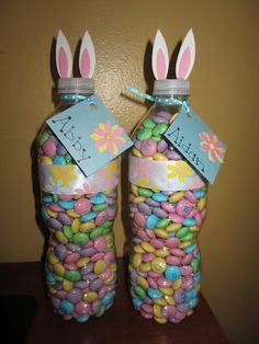 Easter gift idea - would also work well for baby shower using the mini bottles of water